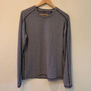 Lululemon Men's Long Sleeve Striped Pullover Shirt